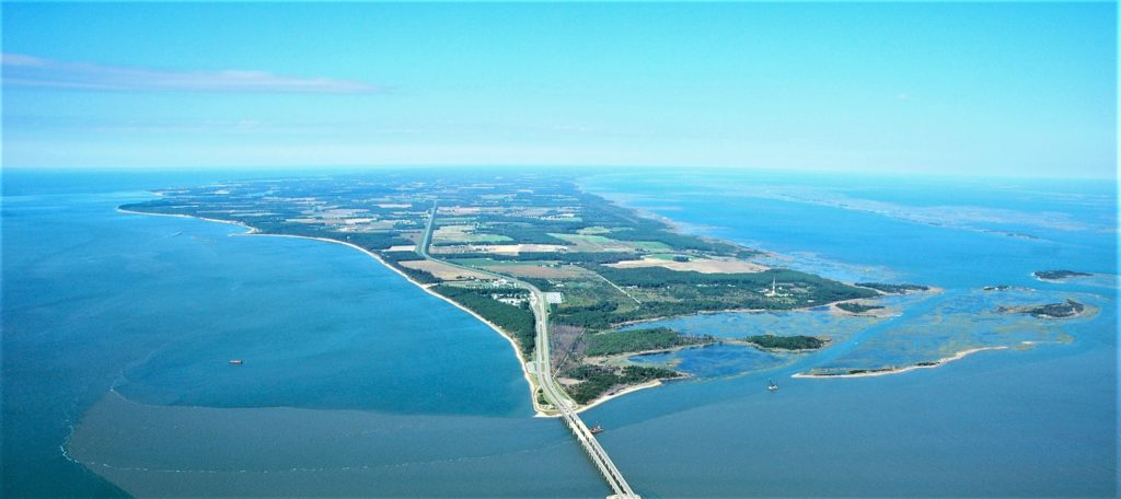 virginia eastern shore aerial photo