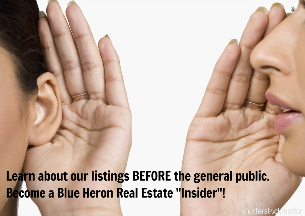 """Become a Blue Heron Real Estate """"Insider"""""""