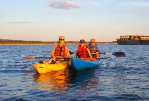 kayak on the Chesapeake bay